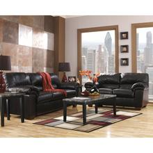 Signature Design by Ashley Commando Living Room Set in Black Leather [FSD-2129SET-BLK-GG]