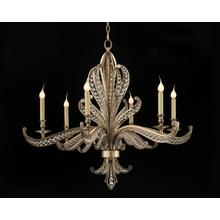 Beaded Crystal Six-Light Chandelier