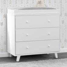 Ava 3 Drawer Dresser with Changing Top - White (100)