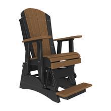 See Details - 2 Adirondack Balcony Glider Chair, Antique-mahogany-black