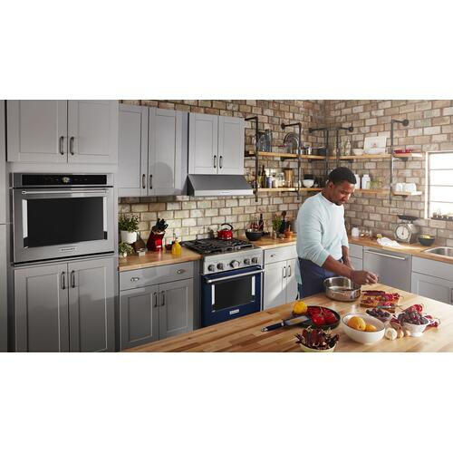 Gallery - KitchenAid® 30'' Smart Commercial-Style Dual Fuel Range with 4 Burners - Ink Blue