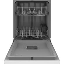 """See Details - GE 24"""" Built-In Front Control Dishwasher White - GDF511PGRWW"""
