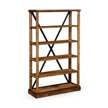 Country living style walnut etag re or bookcase