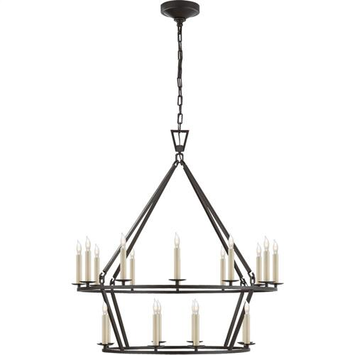 Visual Comfort CHC5178AI E. F. Chapman Darlana 20 Light 30 inch Aged Iron Chandelier Ceiling Light