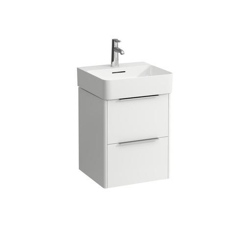 Traffic Grey Vanity unit, 2 drawers, incl. drawer organizer, matching small washbasin 815281