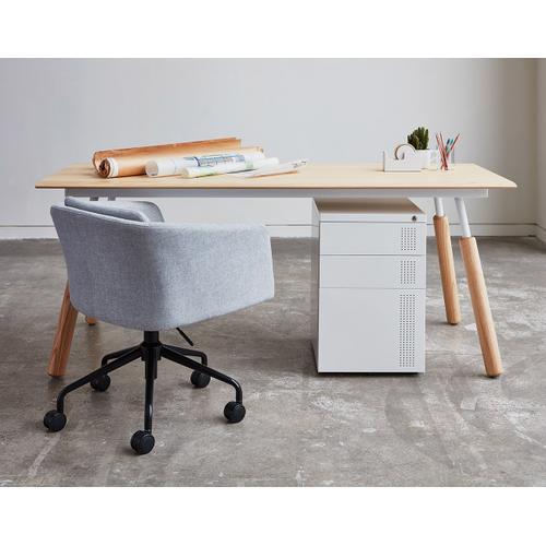 Envoy Desk 70 Inch / Black Ash/black / Dowel Black