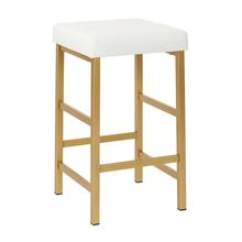 "Backless 26"" Counter Height Bar Stool Gold Frame"