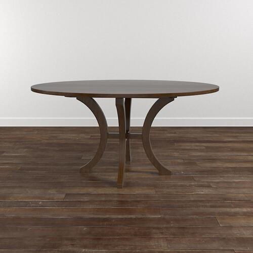 """Custom Dining 60"""" Glass Table w/Turned Base"""