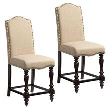 View Product - McGregor 2-Pack Upholstered Counter Height Chairs, Beige