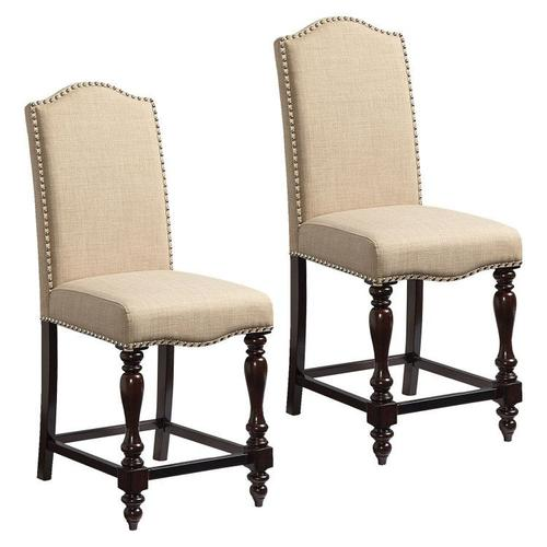 Standard Furniture - McGregor 2-Pack Upholstered Counter Height Chairs, Beige