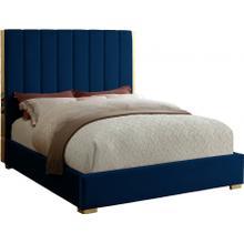 "See Details - Becca Velvet Bed - 63.5"" W x 81"" D x 61.5"" H"