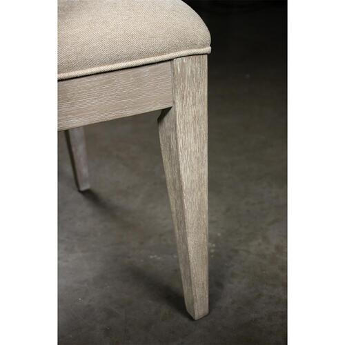 Cascade - Upholstered Wood Back Arm Chair - Dovetail Finish