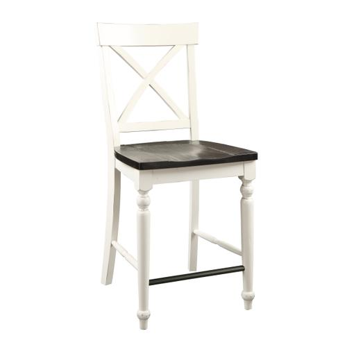 "Mountain Retreat 24"" Bar Stool, Dark Mocha & Antique White D601-24-09"