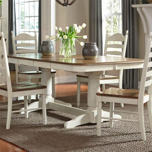 Double Pedestal Table Base