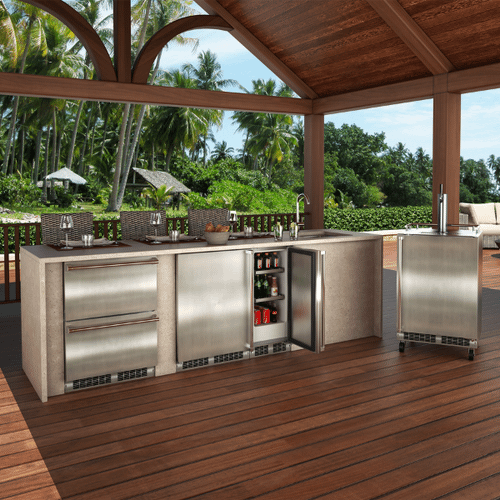 Marvel - 24-In Outdoor Built-In Refrigerated Drawers with Door Style - Stainless Steel