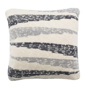 Imani Knit Pillow - Dark Grey / Light Grey / Natural