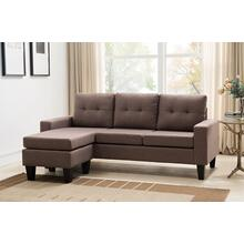 8023 SAND Tufted Back Sectional Sofa