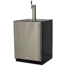 24-In Beverage Dispenser with Door Style - Stainless Steel, Door Swing - Left