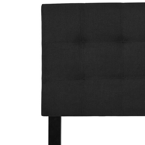 Bedford Tufted Upholstered King Size Headboard in Black Fabric