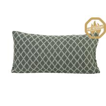 "66826176FR - HONEY Geometric Pillow Drk Green+Natural, Poly Fill, 24""x12"""