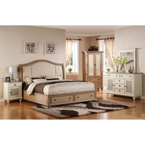 Coventry - King/cali King Storage Footboard With Platform - Weathered Driftwood Finish