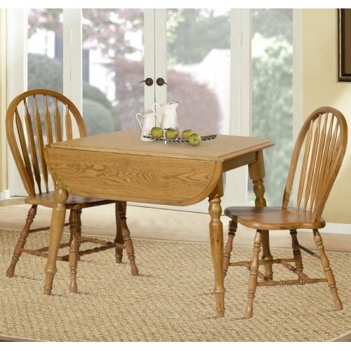 Tennessee Enterprises - Laminated Leg Table with 2 Side Chairs