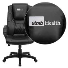 Texas Medical Branch Galveston Embroidered Black Leather Executive Office Chair