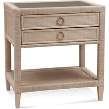 Soho Two Drawer Nightstand with Glass Top