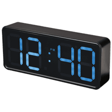 Extra Large Display Alarm Clock with Bright Control Temperature & Date