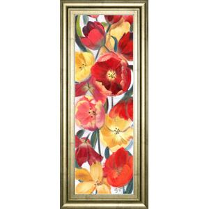 """Tulip Array Panel Il"" By Sandra Iafrate Framed Print Wall Art"