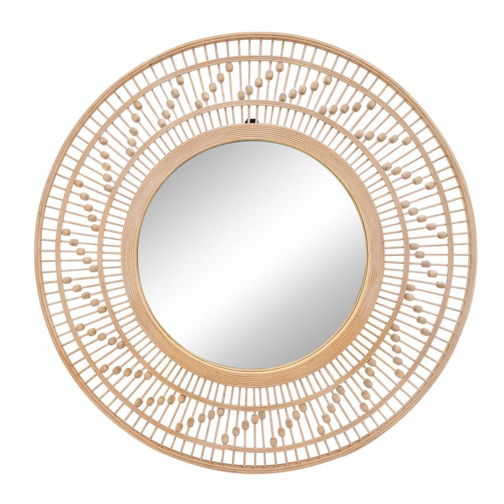 "See Details - Bamboo 36""d Wall Mirror, Natural"
