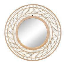 """Bamboo 36""""d Wall Mirror, Natural"""