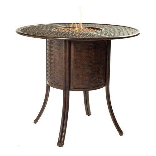 "Castelle - 49"" Resort Round Firepit Bar Table"