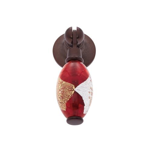 Old World Bronze 30 mm Red Pendant Pull