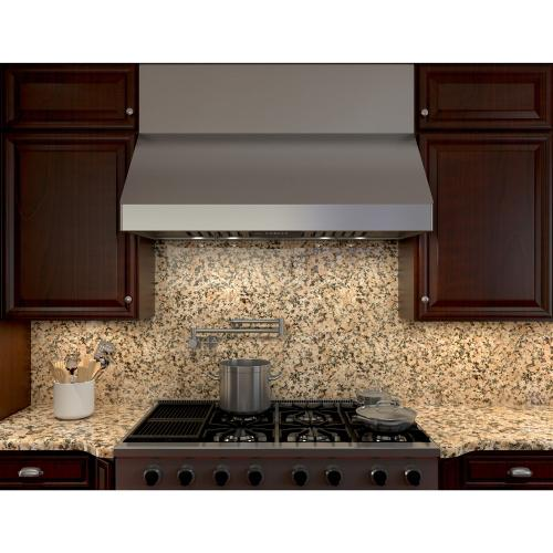 """Zephyr - Zephyr AK7536BS  36"""" Tempest II Wall Hood with 650 CFM Blower, 6 Speed Levels, ACT"""