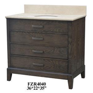 """Kensington 3 Drawer 36"""" Vanity Sink Product Image"""