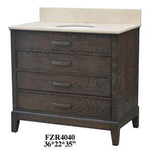 "Kensington 3 Drawer 36"" Vanity Sink Product Image"