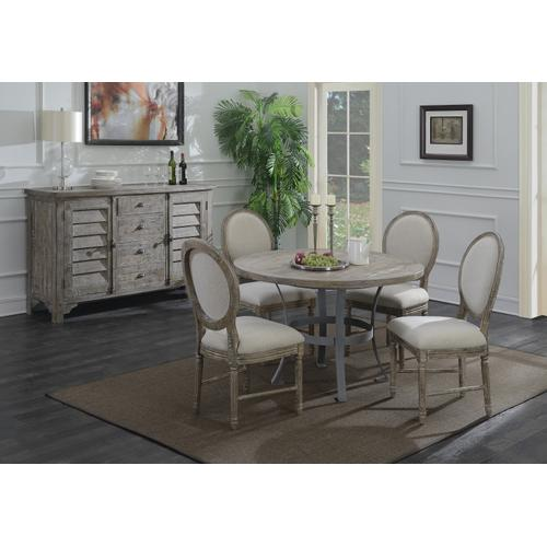 Interlude Upholstered Dining Chair, Sandstone Buff D560-20-05