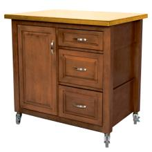 See Details - Kitchen Cart - Walnut w/Light-Oak Top