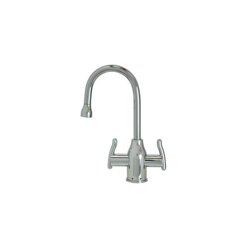 Mountain Plumbing - Hot & Cold Water Faucet with Modern Curved Body & Handles - Matte Black