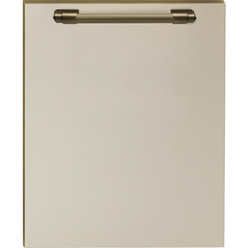 Superiore - Dishwasher panel with handle Cream matte, Bronze
