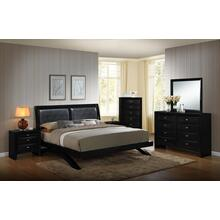 Blemerey 110 Black Wood Arch-Leg Bed Group, KING AND QUEEN Bed, Dresser, Mirror, 2 Night Stands, Chest, King
