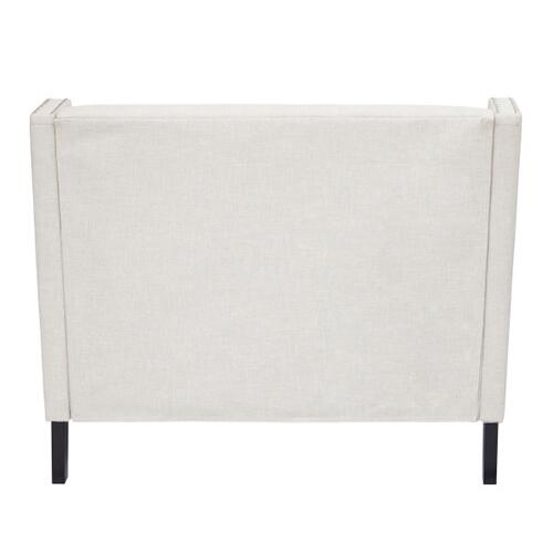 Concave Shelter Wing Entryway Bench in Off White