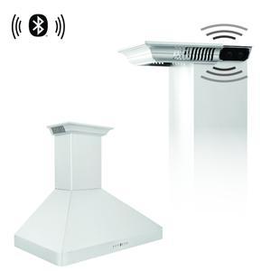 Zline KitchenZLINE Wall Mount Range Hood in Stainless Steel with Built-in CrownSound™ Bluetooth Speakers (KF2CRN-BT) [Size: 30 Inch]
