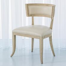 Klismos Chair-Beige Leather