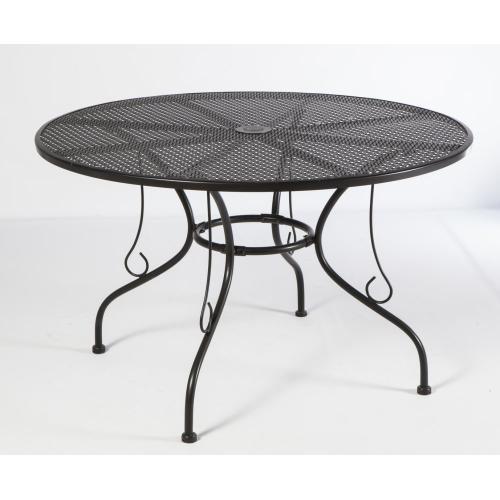 "Alfresco Home - 48"" R Jigsaw Table w/umbrella hole"