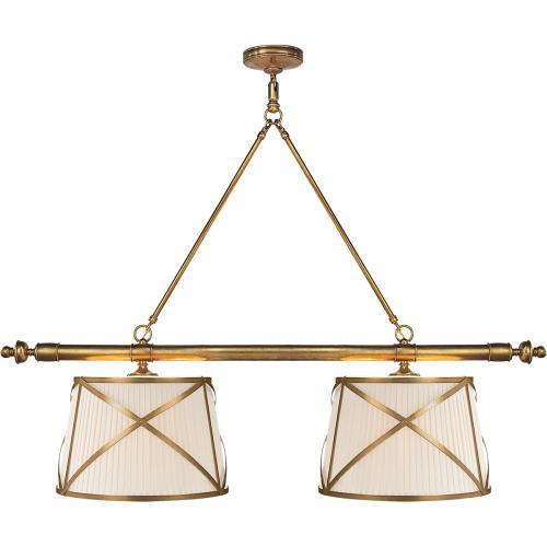 Visual Comfort CHC1481AB-L E. F. Chapman Grosvenor 4 Light 51 inch Antique-Burnished Brass Linear Pendant Ceiling Light