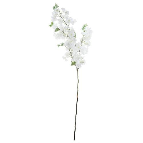 Faux Cherry Blossom Stem-White