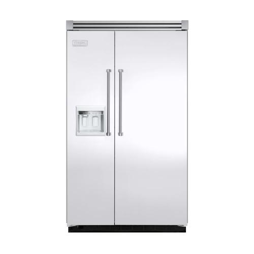 """Viking - White 48"""" Side-by-Side Refrigerator/Freezer with Dispenser - VISB (Integrated Installation)"""