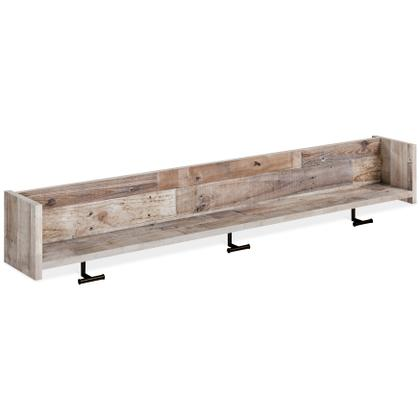 See Details - Neilsville Wall Mounted Coat Rack With Shelf